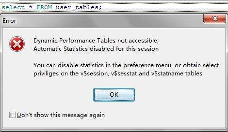 Dynamic Performance Tables not accessible