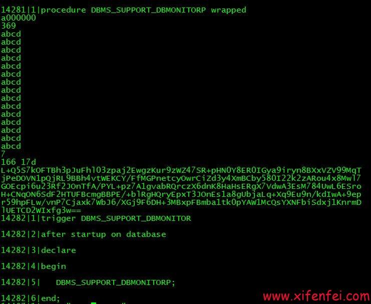 DBMS_SUPPORT_DBMONITOR